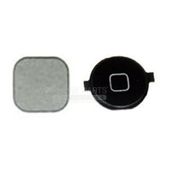 Picture of iPhone 4S Compatible Home Button With Metal Back Black