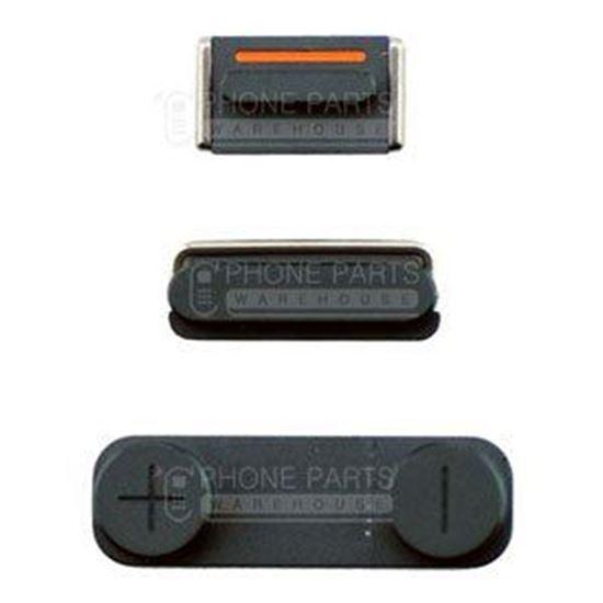 Picture of iPhone 5 Compatible 3 Piece Button Set Black