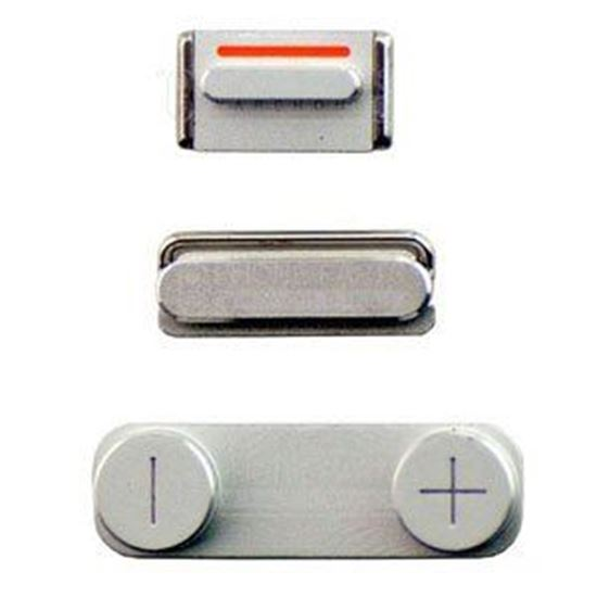 Picture of iPhone 5 Compatible 3 Piece Button Set Silver
