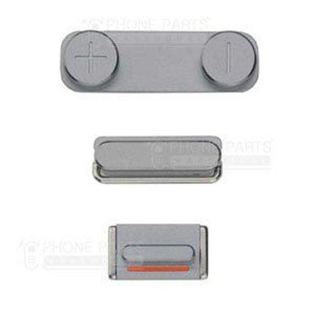 Picture of iPhone 5S Compatible 3 Piece Button Set Black