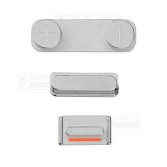 Picture of iPhone 5S Compatible 3 Piece Button Set Silver