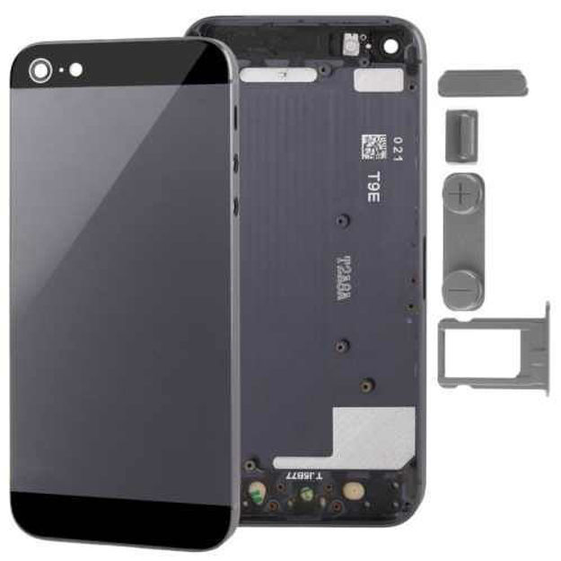 Picture of iPhone 5 Compatible Back Cover Housing with Side Button and Sim Tray Black