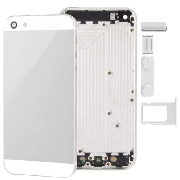 Picture of iPhone 5 Compatible Back Cover Housing with Side Button and Sim Tray White