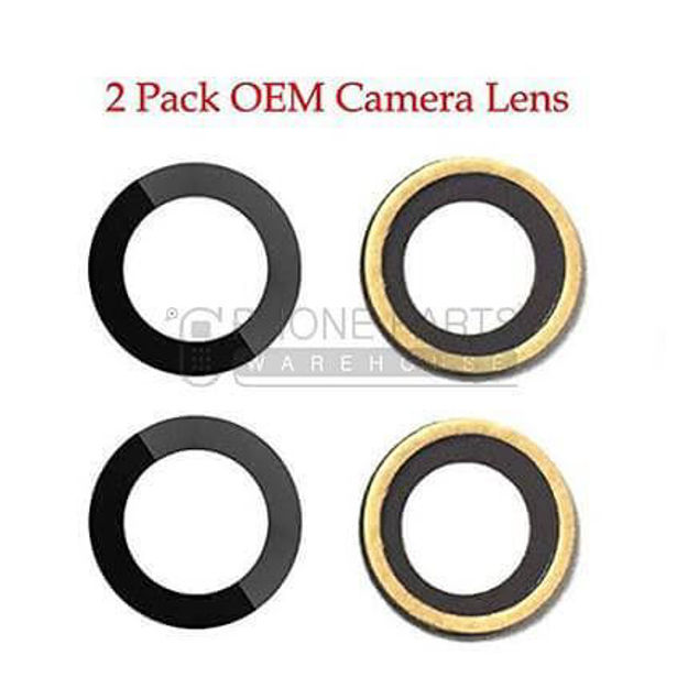 Picture of iPhone 7/8/SE 2020 Compatible Back Camera Lens glass Only 2 Piece Set