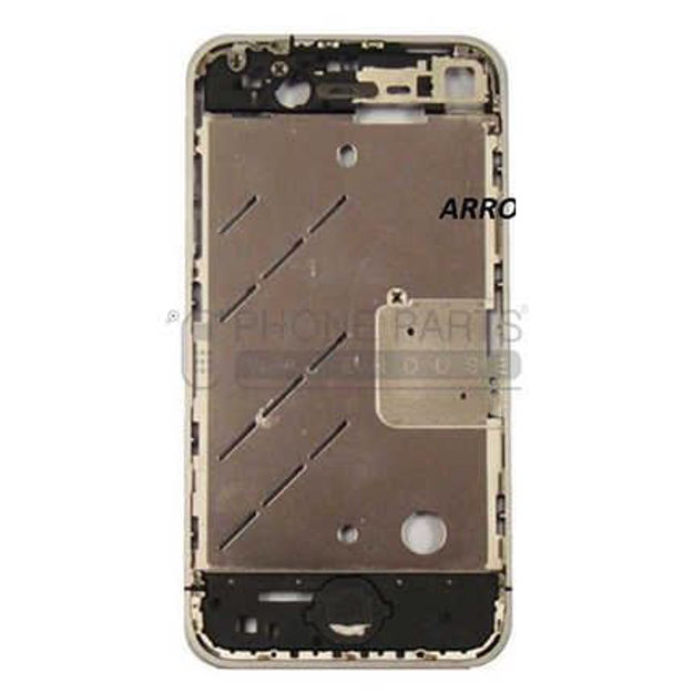 Picture of iPhone 4 centre board with home button, sim holder in white- Replacement part