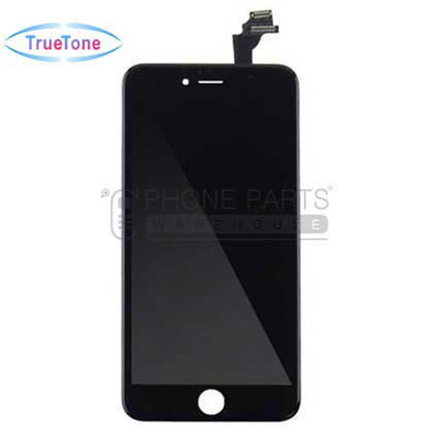 Picture of iPhone 6 Compatible LCD Screen Assembly with Touch and Frame [True Tone] [Black]