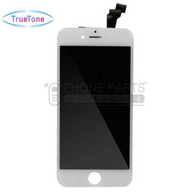 Picture of iPhone 6 Compatible LCD Screen Assembly with Touch and Frame [True Tone] [White]