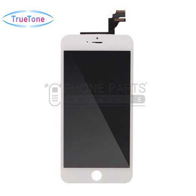 Picture of iPhone 6 Plus Compatible LCD Screen Assembly with Touch and Frame [True Tone] [White]