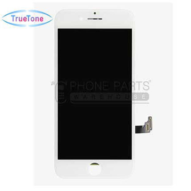 Picture of iPhone 8 Plus Compatible LCD Screen Assembly with Touch and Frame [True Tone] [White]