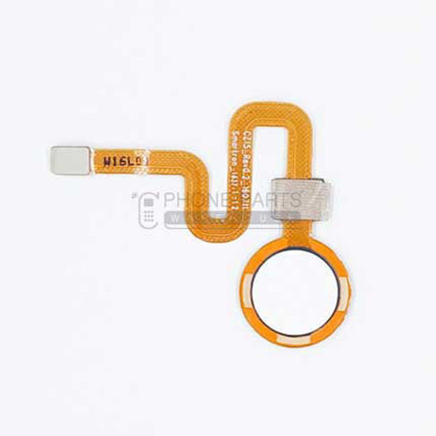 Picture of HTC One X10 Touch ID Home Button with Flex [White]