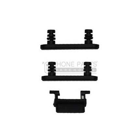 Picture of iPhone 7 Plus Compatible 3 Piece Button Set [Met Black]
