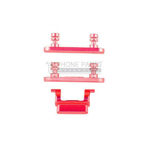 Picture of iPhone 7 Plus Compatible 3 Piece Button Set [Red]