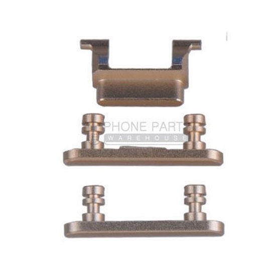 Picture of iPhone 7 Compatible 3 Piece Button Set [Gold]