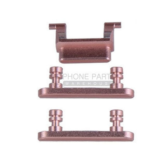 Picture of iPhone 7 Compatible 3 Piece Button Set [Rose Gold]