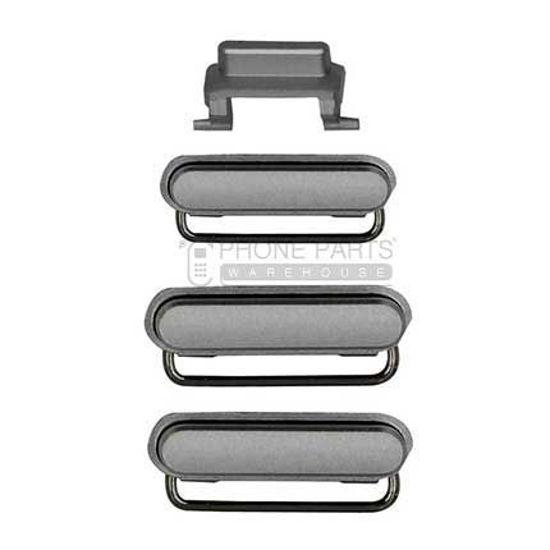 Picture of iPhone 6S/6S Plus Compatible 3 Piece Button Set [Silver]