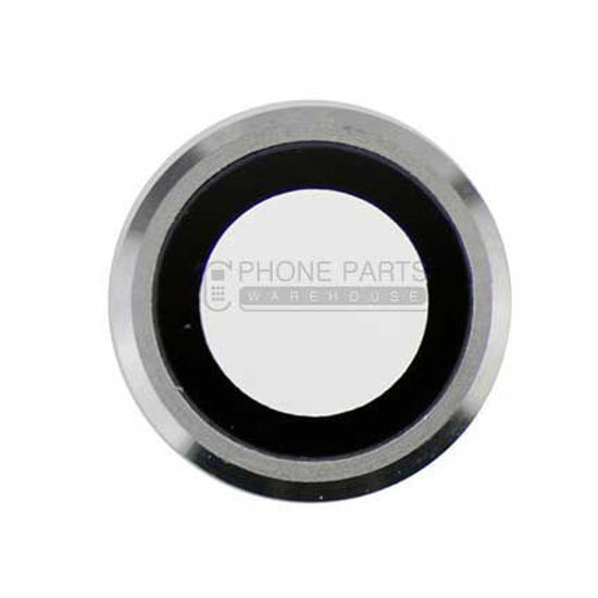 Picture of iPhone 6 Plus / 6S Plus Compatible Back Camera Glass Lens With Cover Ring [White]