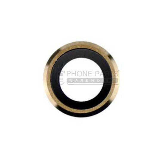 Picture of iPhone 6S Compatible Back Camera Glass Lens With Cover Ring [Gold]