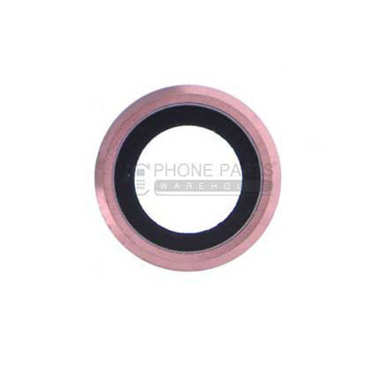 Picture of iPhone 6S Compatible Back Camera Glass Lens With Cover Ring [Rose Gold]