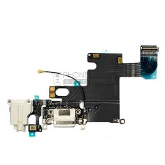 Picture of iPhone 6 Genuine Charge Port & Audio Flex Cable - [White]
