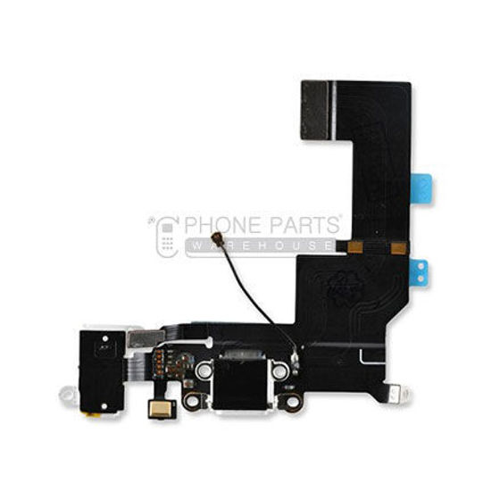 Picture of iPhone SE Original Charging Port Flex With Headphone Jack [Genuine] [White]