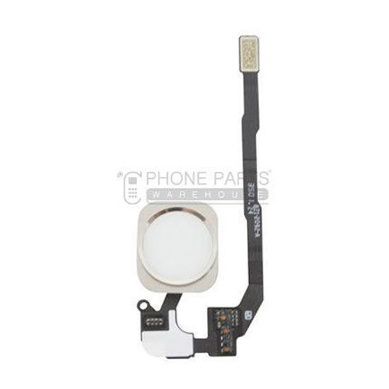 Picture of iPhone 5S/SE OEM Complete Home Button  Flex -(White)