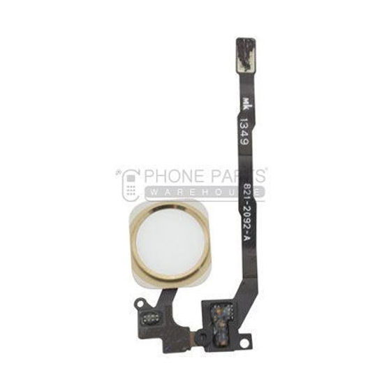 Picture of iPhone 5S/SE OEM Complete Home Button Flex - Gold