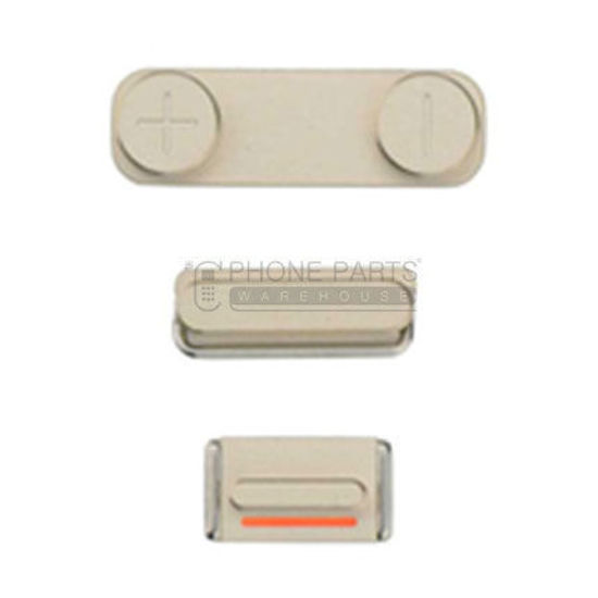 Picture of iPhone SE Compatible 3 Piece Button Set Gold