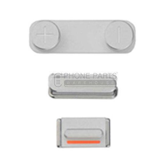 Picture of iPhone SE Compatible 3 Piece Button Set Silver
