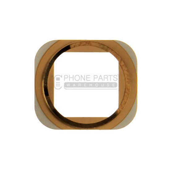 Picture of iPhone 5S Compatible Home Button Metal Ring - Rose Gold