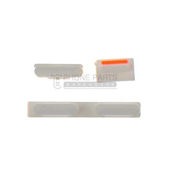 Picture of iPhone 5c Compatible 3 Piece Button Set White