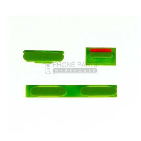 Picture of iPhone 5c Compatible 3 Piece Button Set Green