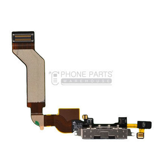 Picture of iPhone 4S Compatible Charge Port With Flex Black