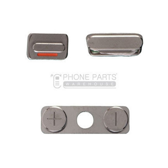 Picture of iPhone 4S Compatible 3 Piece Button Set