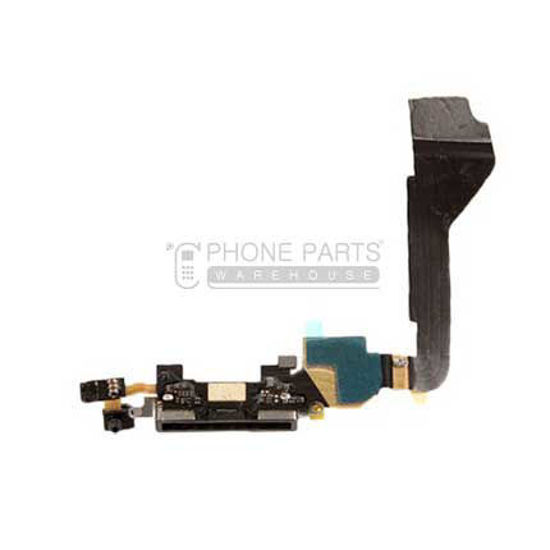 Picture of iPhone 4 Compatible Charge Port With Flex Black