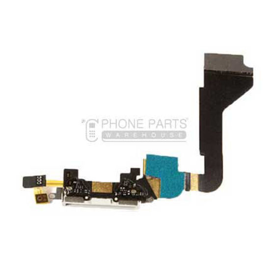Picture of iPhone 4 Compatible Charge Port with Flex White