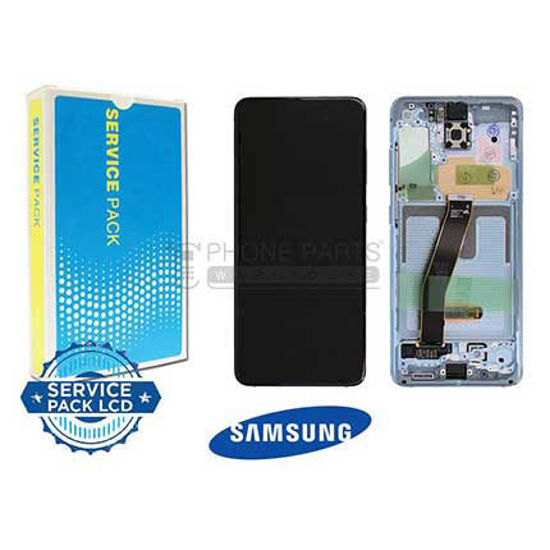 Picture of Galaxy S20 / S20 5G (SM-G980 / G981) LCD Screen Digitizer With Frame Service Pack [Cloud Blue]