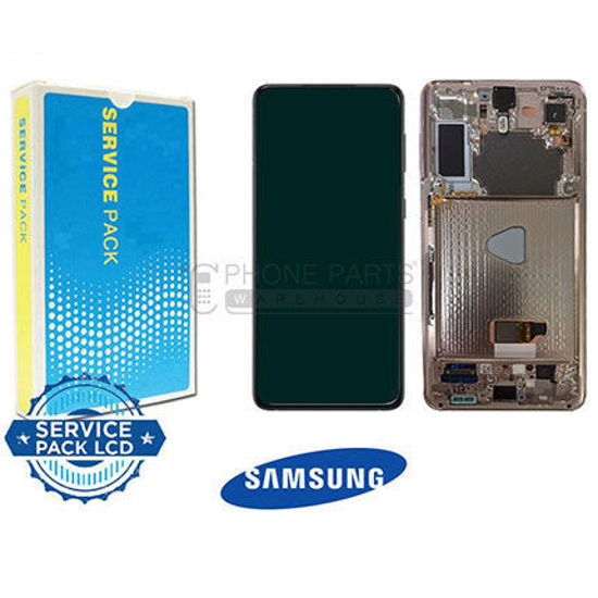 Picture of Galaxy S21 5G (SM-G991) LCD Screen Digitizer Assembly Service Pack with Frame [Violet]