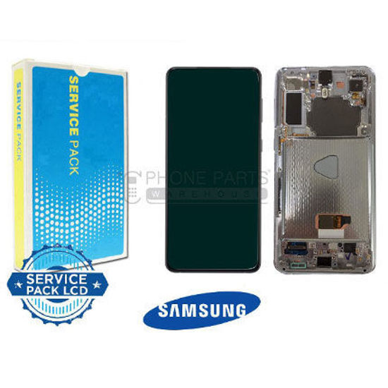 Picture of Galaxy S21 Plus 5G (SM-G996) LCD Screen Digitizer Assembly Service Pack with Frame [Silver]