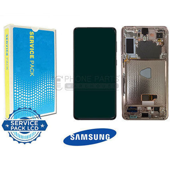 Picture of Galaxy S21 Plus 5G (SM-G996) LCD Screen Digitizer Assembly Service Pack with Frame [Violet]