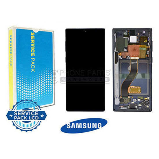 Picture of Galaxy Note 10 LCD Screen Digitizer Assembly Service Pack with Frame [Aura Black]
