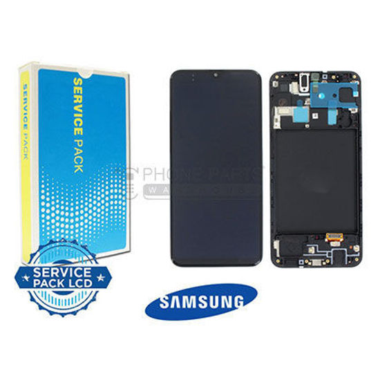 Picture of Galaxy A20 (SM-A205) LCD Screen Digitizer Assembly With Frame Service Pack [Black]