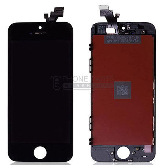 Picture of iPhone 5 Compatible LCD Screen Assembly Black (Refurbished Grade-A)