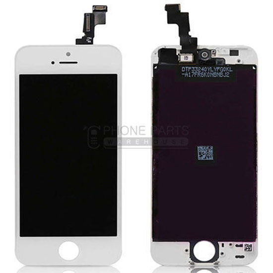 Picture of iPhone 5S/SE Compatible LCD Screen Assembly White (Refurbished Grade-A)
