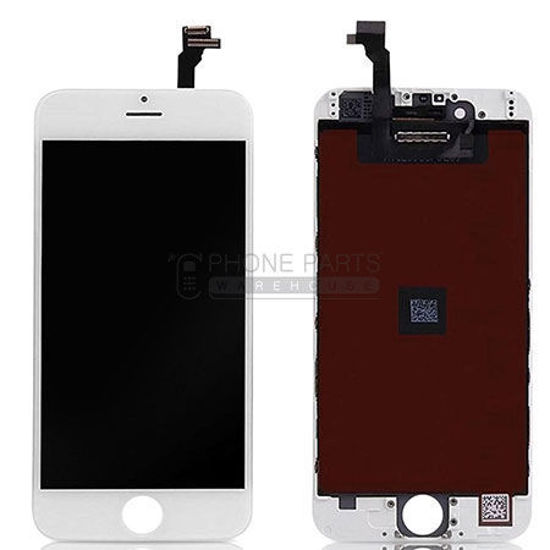 Picture of iPhone 6 Compatible LCD Screen Assembly White [Refurbished Grade S+]