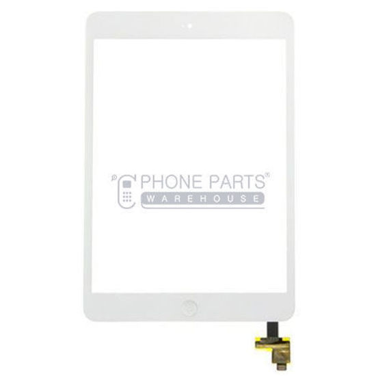 Picture of iPad Mini 1 /2 OEM Touch Screen Digitizer Glass with Home Button and Adhesive in White