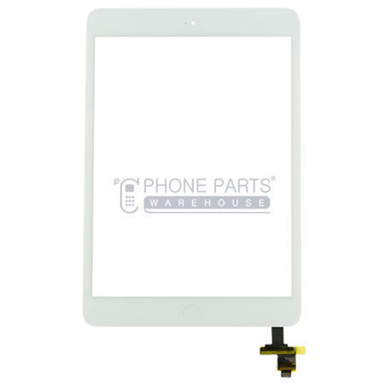 Picture of iPad Mini 1 /2 Super High  Quality Touch Screen Digitizer Glass with Home Button and Adhesive in White