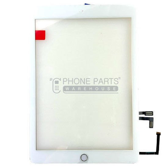 Picture of iPad 5 Super High  Quality Touch Screen Digitizer Glass with Home Button and Adhesive in White