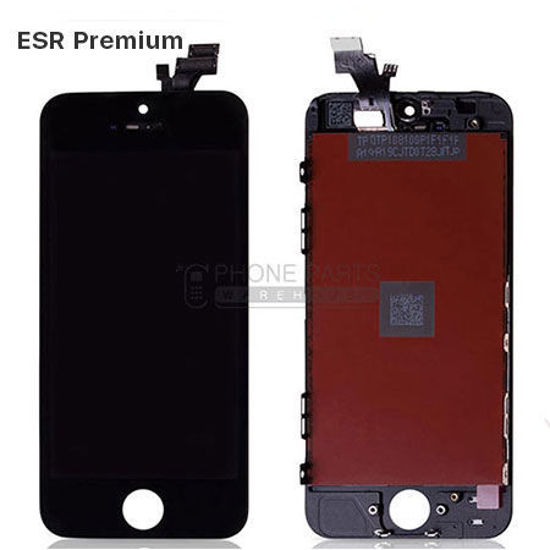 Picture of iPhone 5 Compatible LCD Screen Assembly with Touch and Frame [ESR Premium][Black]