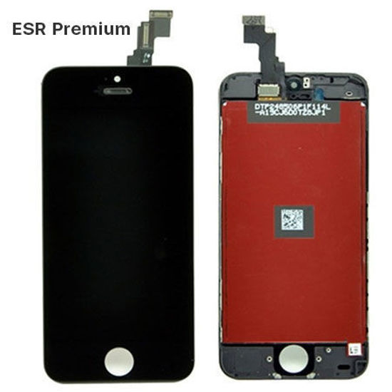 Picture of iPhone 5c Compatible LCD Screen Assembly with Touch and Frame [ESR Premium][Black]