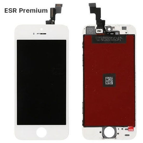 Picture of iPhone 5S/SE Compatible LCD Screen Assembly with Touch and Frame [ESR Premium][White]